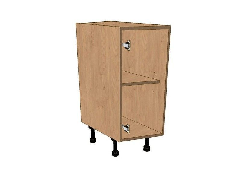 Broadoak Partridge Grey 275mm Highline Angled Base Unit LH 296 Door