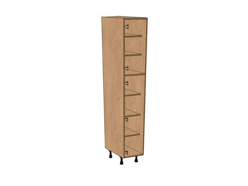 Broadoak Sanded 275mm Angled Larder Unit LH 1970mm High 296 Doors