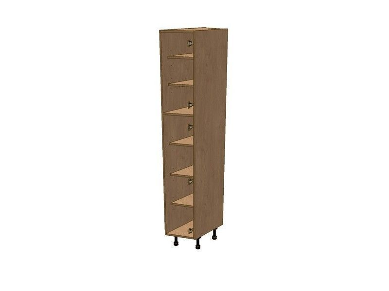 Broadoak Sanded 275mm Angled Larder Unit RH 1970mm High 296 Doors