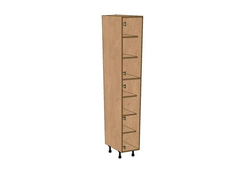 Mornington Shaker Partridge Grey 275mm Angled Larder Unit LH 2150mm High 296 Doors