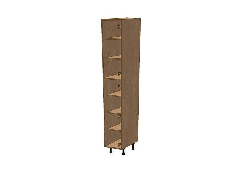 Broadoak Natural 275mm Angled Larder Unit RH 2150mm High 296 Doors