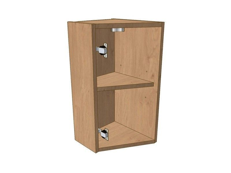 Mornington Shaker Partridge Grey 275mm Angled Wall Unit LH To Suit 296 Door 575mm High