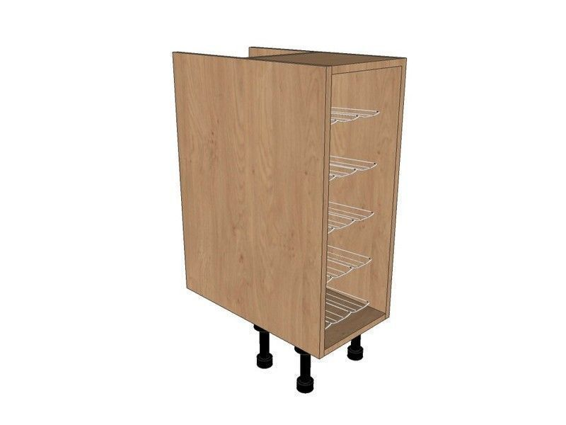 Remo Gloss Cashmere 300mm Base Unit With Chrome Wine Rack