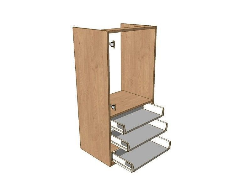 Broadoak Natural 500mm Boiler Dresser Unit 3 Drawer To Suit 720mm Wall Units