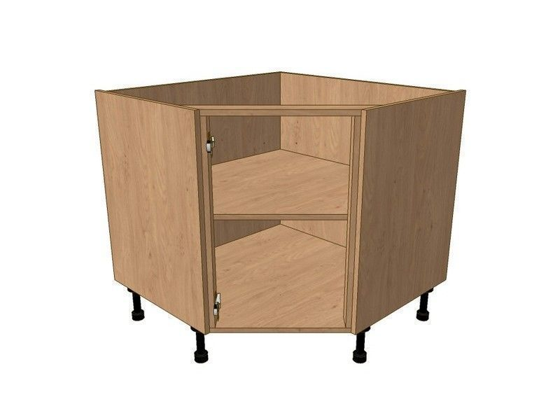 Milbourne Almond 900mm*900mm Highline Angled Corner Base Unit