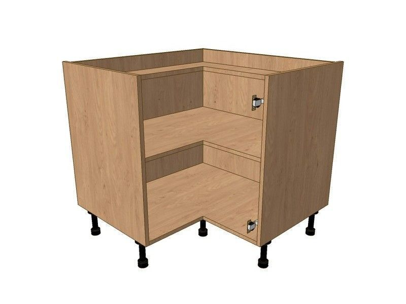 Milbourne Almond 980mm*980mm Highline L Shape Corner Base Unit