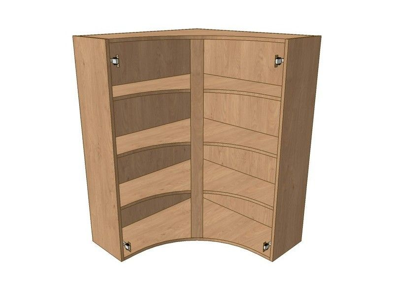 900mm*900mm Internal Curved Cnr Dresser Unit - 1215mm High
