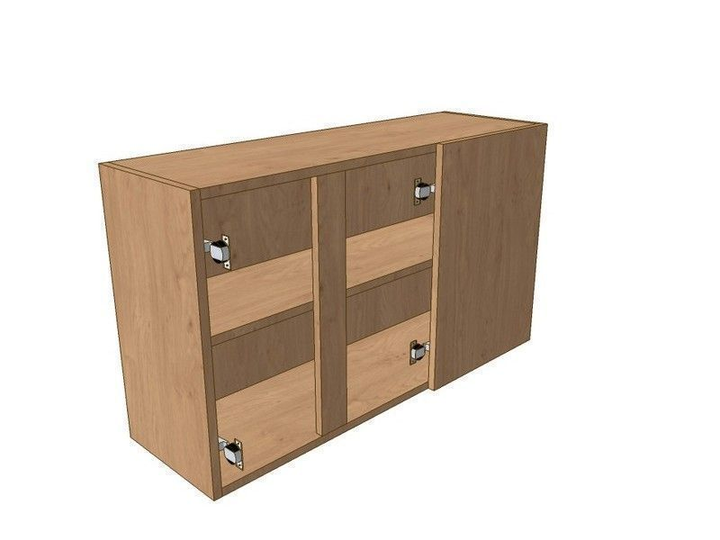 Broadoak Natural 1000mm Corner Wall Unit 2 Door 400mm RH Blank 575mm High