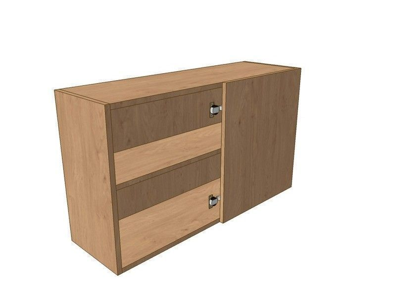 Broadoak Natural 800mm Corner Wall Unit 400mm RH Blank 575mm High