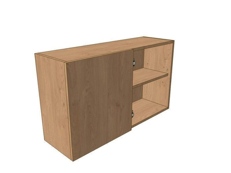 Porter Gloss Cashmere 1000mm Corner Wall Unit 500mm LH Blank 575mm High