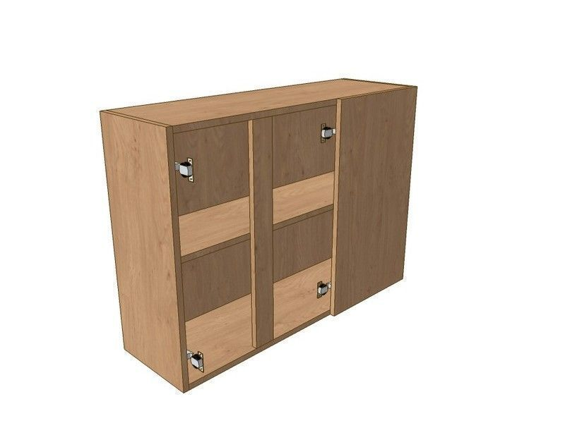 Milton Sanded In-frame 900mm Corner Wall Unit 2 Door 300mm RH Blank 720mm High
