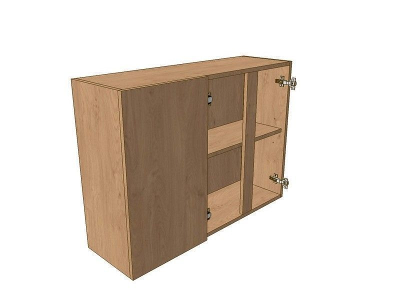 Milton Sanded In-frame 900mm Corner Wall Unit 2 Door 300mm LH Blank 720mm High