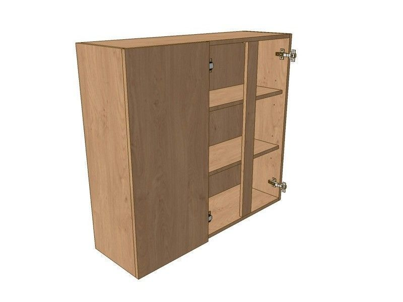 Milton Sanded In-frame 900mm Corner Wall Unit 2 Door 300mm LH Blank 900mm High