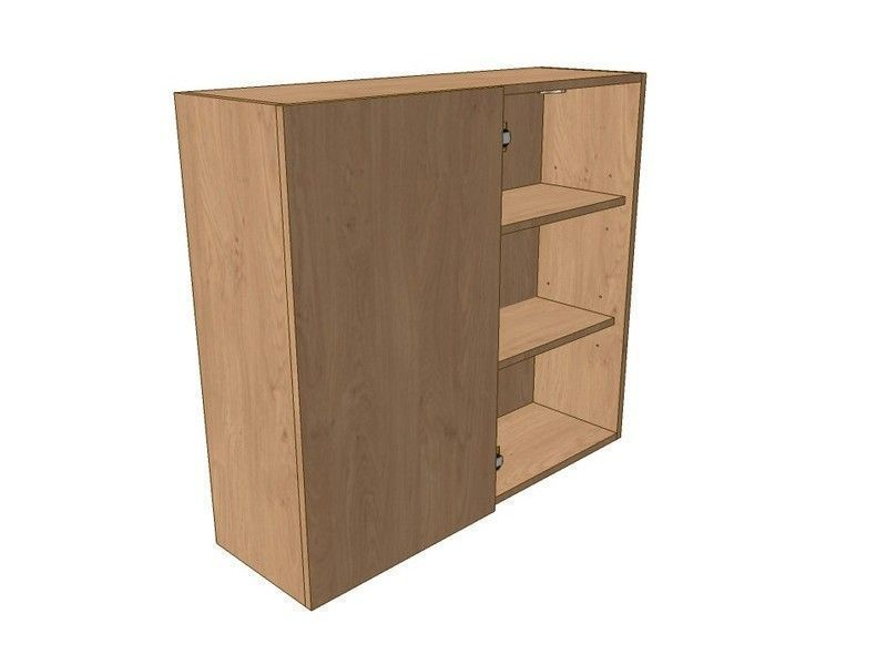 Milton Sanded In-frame 800mm Corner Wall Unit 400mm LH Blank 900mm High
