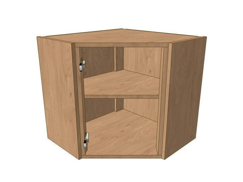 Broadoak Natural 600mm*600mm Angled Corner Wall Unit 575mm High