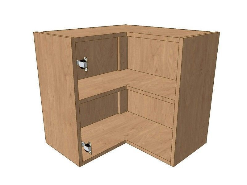 Broadoak Natural 620mm*620mm L Shaped Corner Wall Unit 575mm High