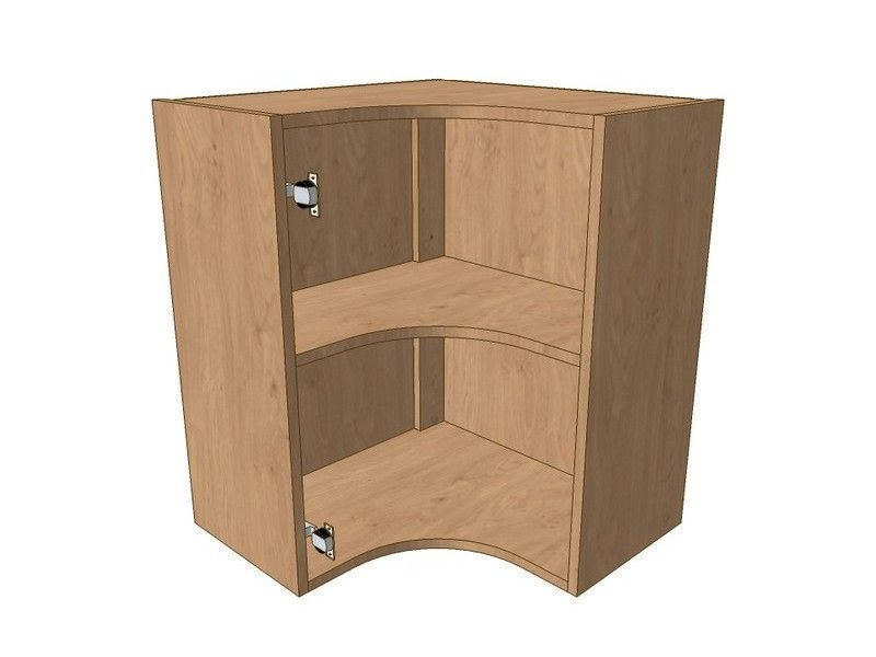 Milton Sanded In-frame 600mm*600mm Internal Curved Wall Unit 720mm High