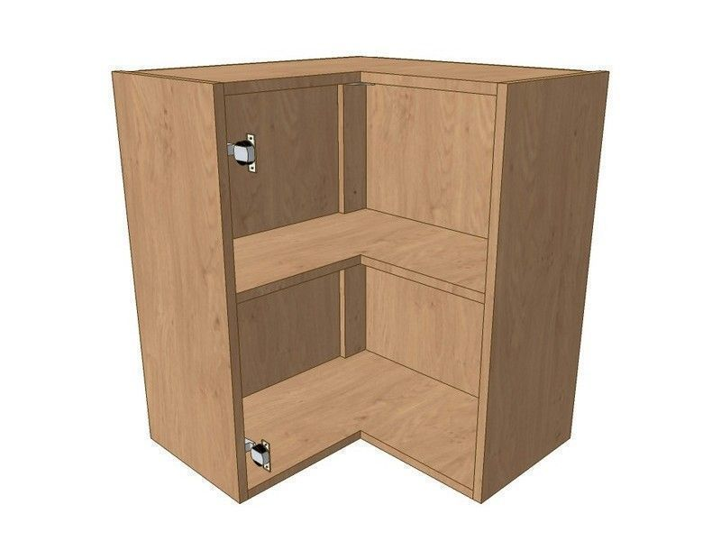 Milton Sanded In-frame 600mm*600mm L Shaped Corner Wall Unit 720mm High