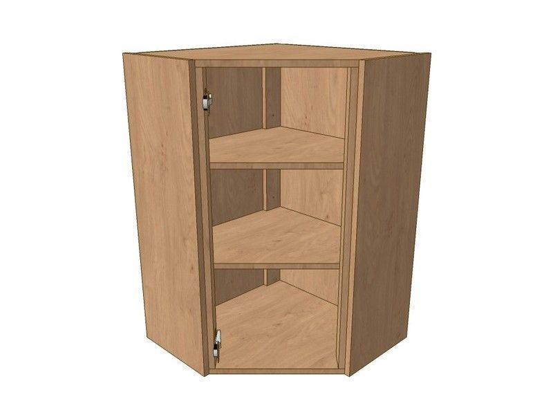 Milton Sanded In-frame 600mm*600mm Angled Corner Wall Unit 900mm High
