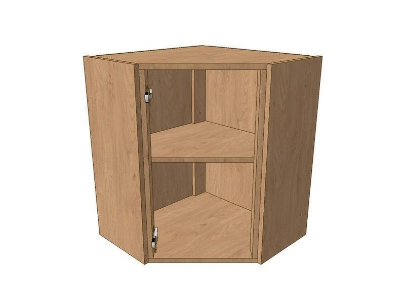 Mornington Shaker Paint To Order 600mm*600mm Angled Corner Wall Unit 720mm High -Suits Glzd Dr