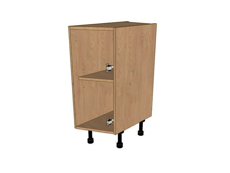 Remo Gloss Cashmere 275mm Dummy Drawerline Angled Base Unit RH 296 Door