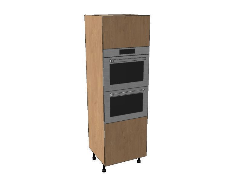 Mornington Shaker Sanded 600mm Double Oven Housing Unit 1825mm High