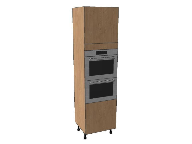 Mornington Shaker Partridge Grey 600mm Double Oven Housing Unit 2150mm High