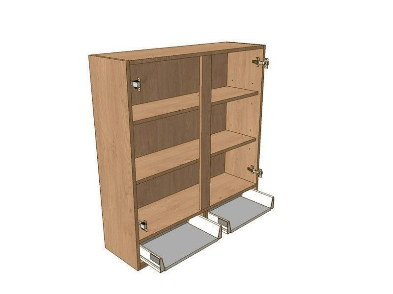Broadoak Natural 1000mm Dresser Unit 2 Drawer To Suit 575mm Wall Units