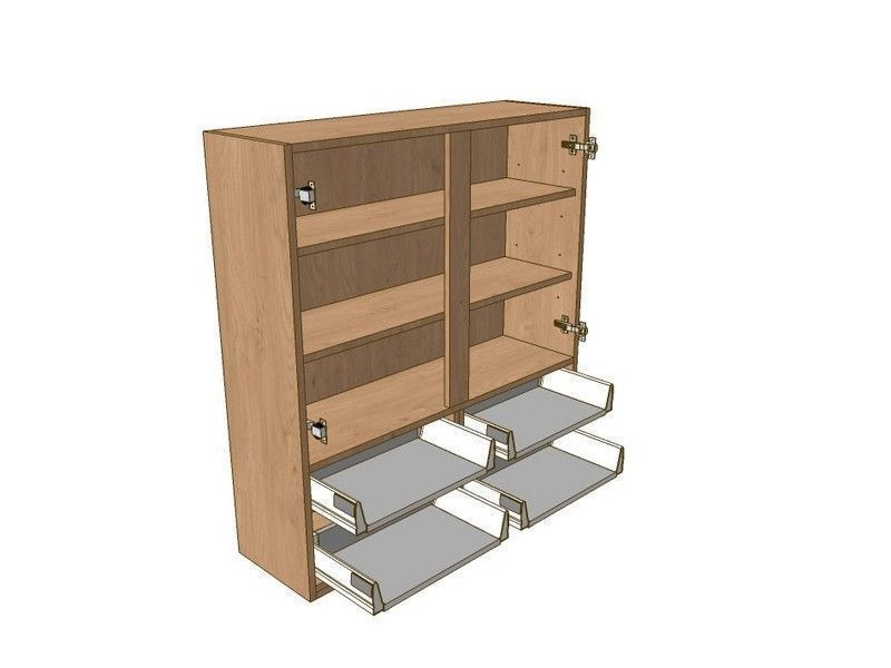 Broadoak Natural 1000mm Dresser Unit 4 Drawer To Suit 575mm Wall Units