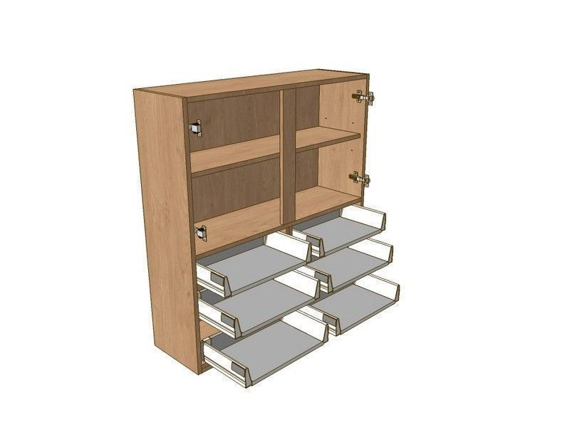 Broadoak Natural 1000mm Dresser Unit 6 Drawer To Suit 575mm Wall Units