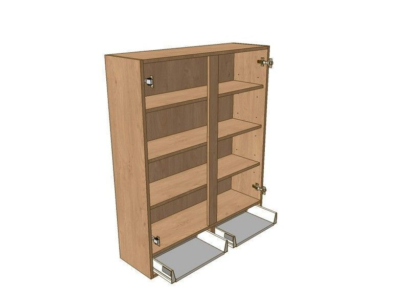 800mm Dresser Unit 2 Drawer To Suit 720mm Wall Units