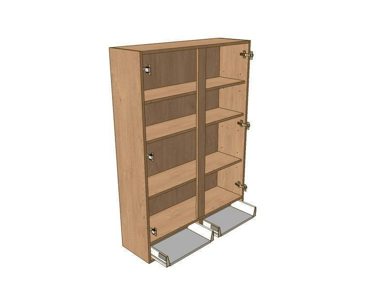 Milbourne Almond 800mm Dresser Unit 2 Drawer To Suit 900mm Wall Units
