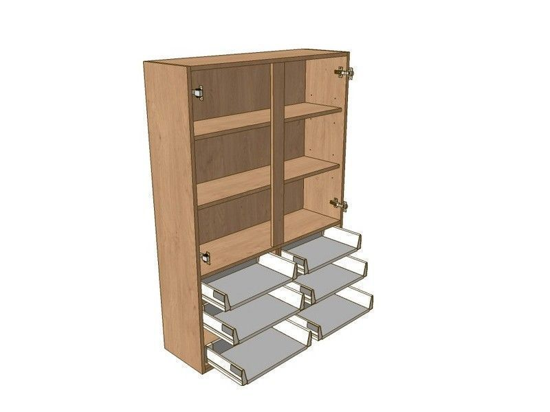 Milbourne Almond 1000mm Dresser Unit 6 Drawer To Suit 900mm Wall Units