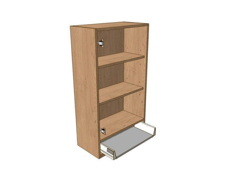 Broadoak Alabaster 400mm Dresser Unit 1 Drawer To Suit 575mm Wall Units