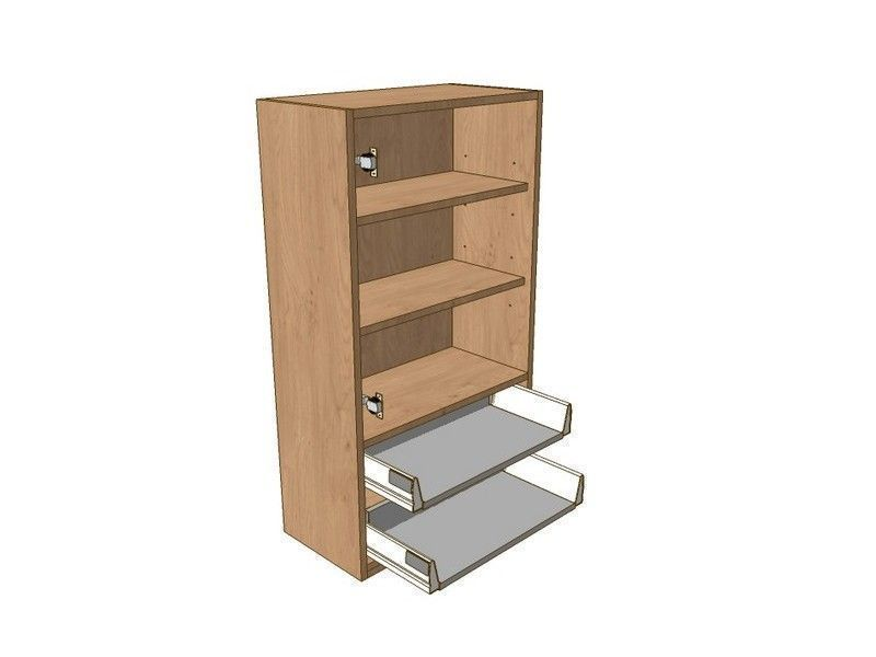 Broadoak Alabaster 500mm Dresser Unit 2 Drawer To Suit 575mm Wall Units