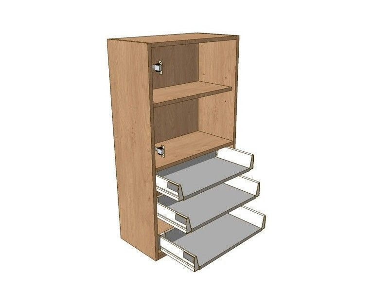Milbourne Almond 500mm Dresser Unit 3 Drawer To Suit 575mm Wall Units