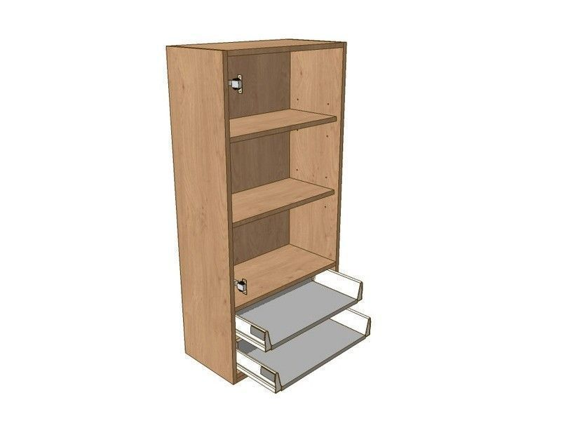Broadoak Natural 600mm Dresser Unit 2 Drawer To Suit 720mm Wall Units