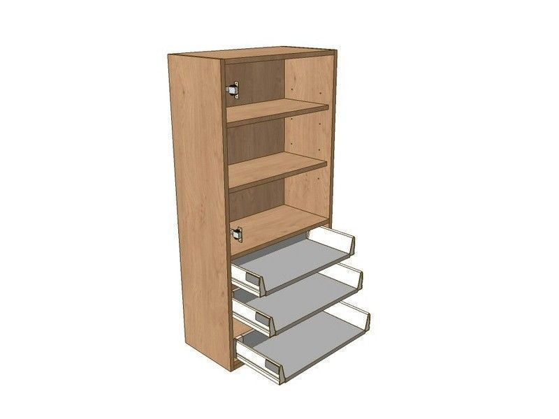 Broadoak Natural 500mm Dresser Unit 3 Drawer To Suit 720mm Wall Units