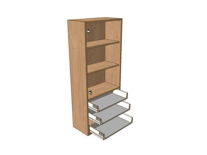Milbourne Almond 500mm Dresser Unit 3 Drawer To Suit 900mm Wall Units