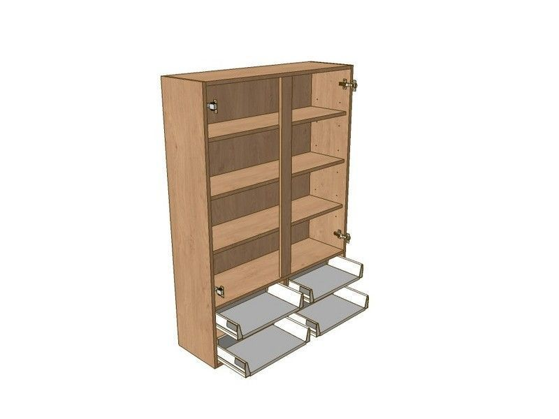 1000mm Dresser Unit 4 Drawer To Suit 900mm Wall Units & Glzd Drs