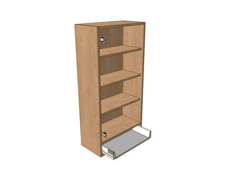 Milton Sanded In-frame 500mm Dresser Unit 1 Drawer To Suit 720mm Wall Units & Glzd Dr