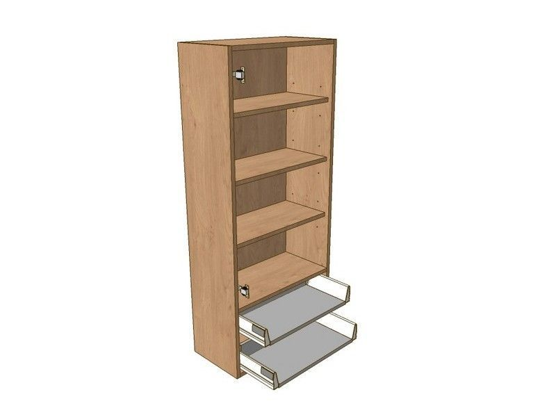 500mm Dresser Unit 2 Drawer To Suit 900mm Wall Units & Glzd Dr