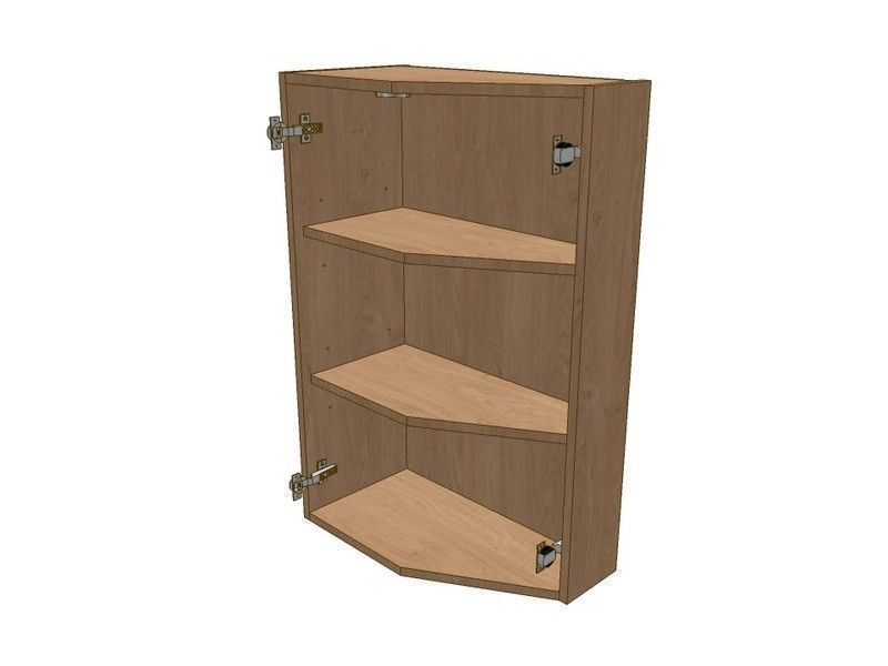 Fitzroy Stone 575mm Extended Angled Wall Unit RH 296 Doors 900mm High