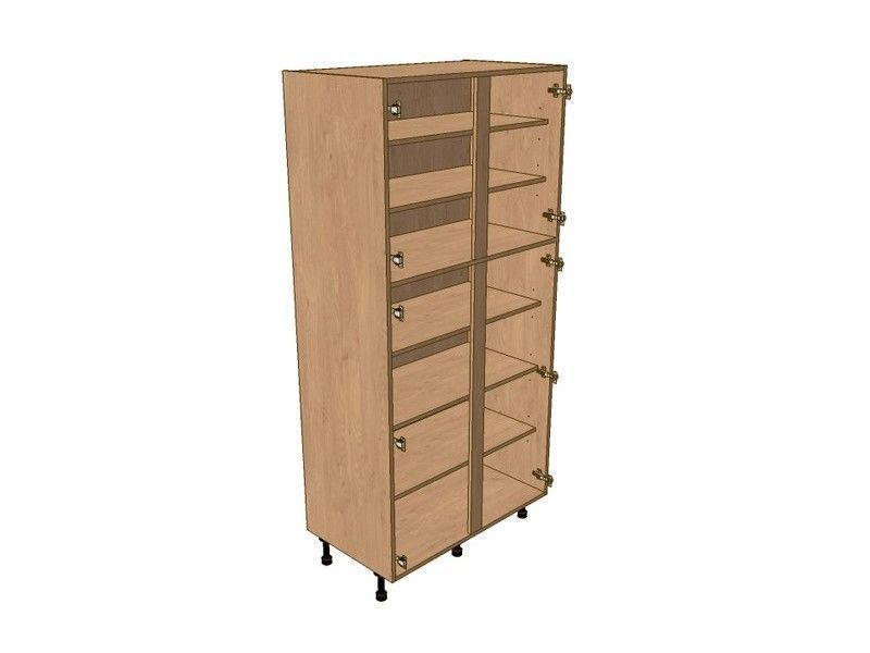 Broadoak Sanded 800mm Larder Unit 1970mm High