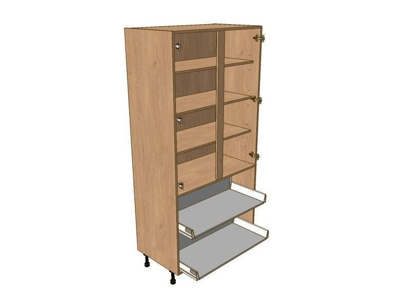 Broadoak Sanded 800mm Larder Unit 1970mm High - 2 Pan