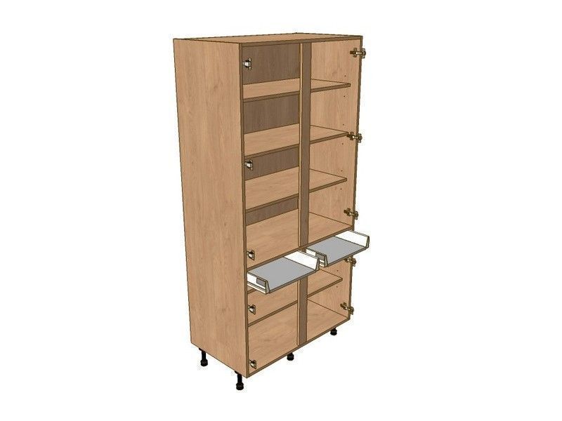 Mornington Beaded Dove Grey 800mm Larder Unit 1970mm High - Drawerline