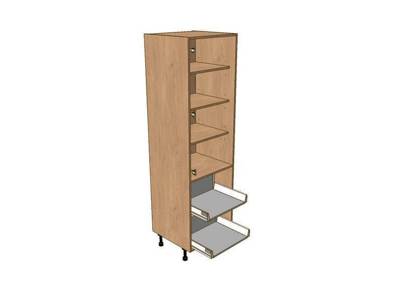 Broadoak Sanded 300mm Larder Unit 1970mm High - 2 Pan