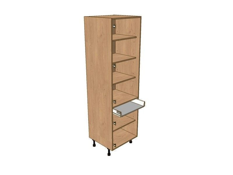 Broadoak Sanded 300mm Larder Unit 1970mm High - Drawerline