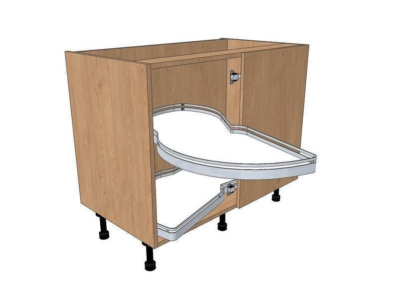 Milbourne Almond 950mm Highline Cnr Base With LeMans Style 500mm RH Blank