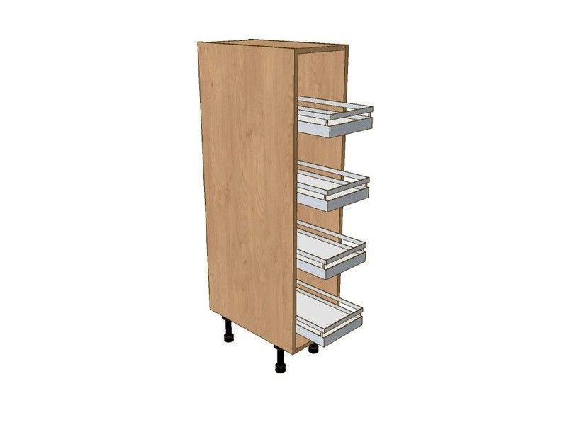 Broadoak Alabaster 300mm Midi Pull Out Larder Unit With Classic Studio Pull Out